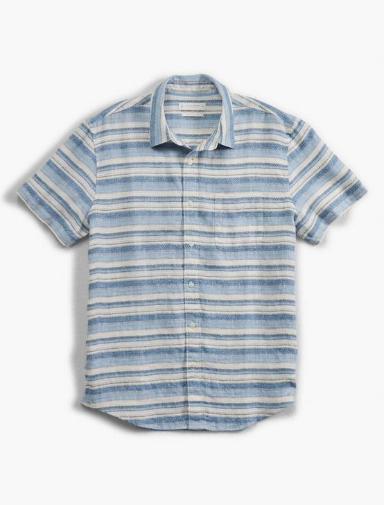 SHORT SLEEVE SAN GABRIEL 1 POCKET, BLUE JAQUARD, productTileDesktop