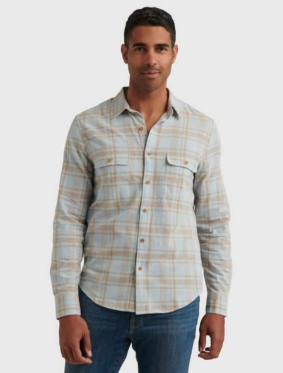 LONG SLEEVE HUMBOLDT WORKWEAR, BLUE PLAID, productTileDesktop