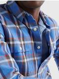 LONG SLEEVE HUMBOLDT WORKWEAR, BLUE PLAID
