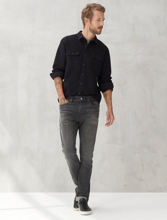 LS HUMBOLDT WORKWEAR SHIRT, BLACK ONYX, productTileDesktop