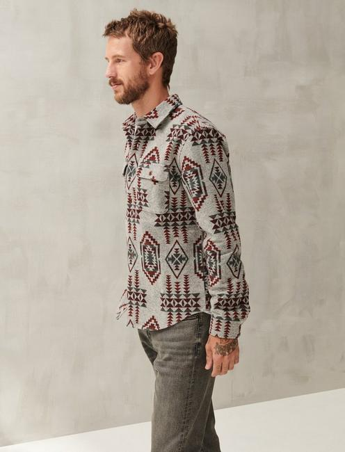 GREY JACQUARD SHIRT JACKET, GREY MULTI
