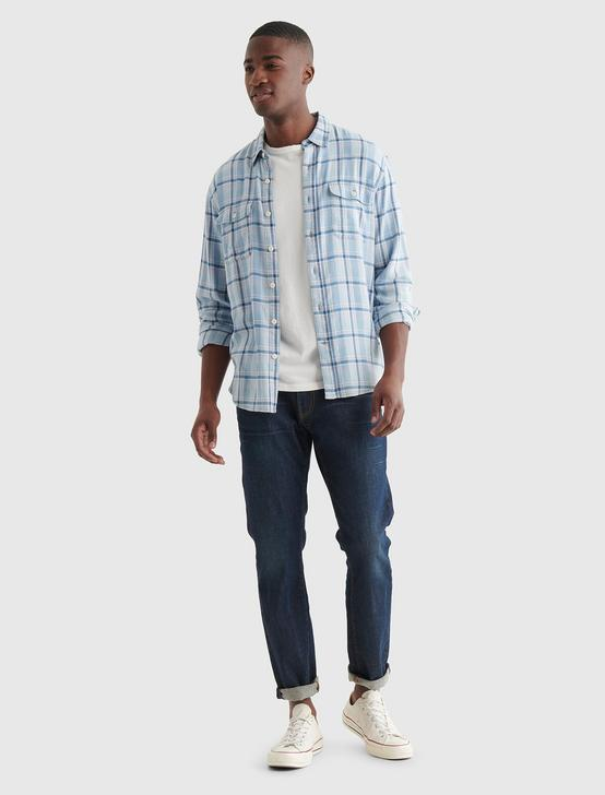 HUMBOLDT WORKWEAR SHIRT, INDIGO MULTI, productTileDesktop