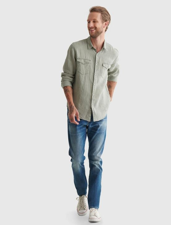 WESTERN LINEN SHIRT, WASHED GREY, productTileDesktop