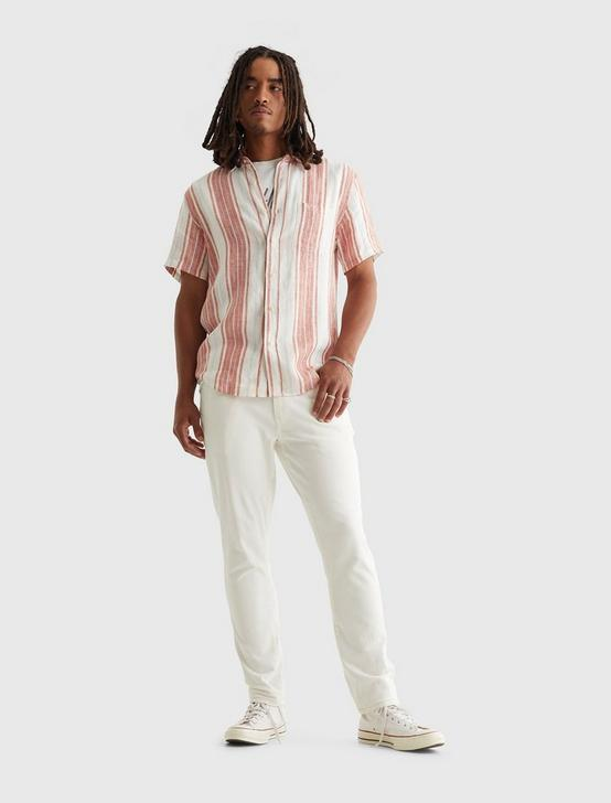 SHORT SLEEVE SAN GABRIEL STRIPE SHIRT, RED STRIPE, productTileDesktop