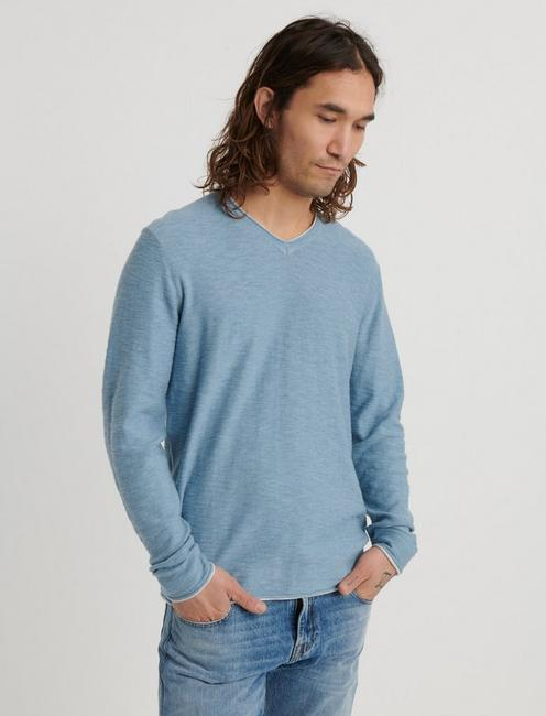 WELTERWEIGHT V-NECK, DUSTY BLUE