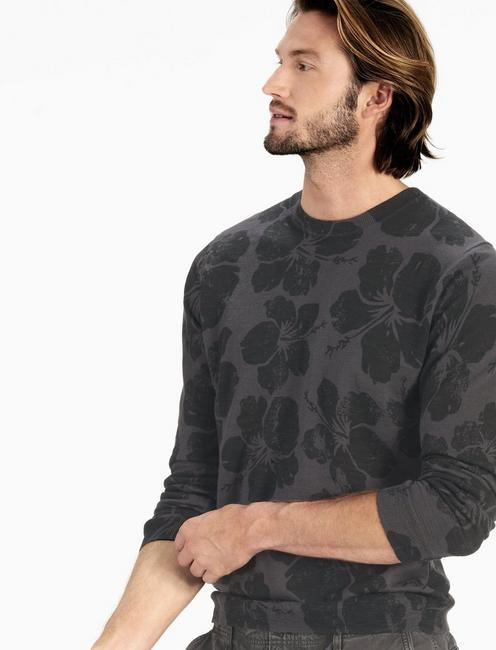 FLORAL CREW SWEATER,