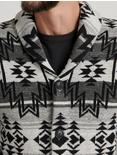 OMBRE SHAWL CARDIGAN, BLACK MULTI
