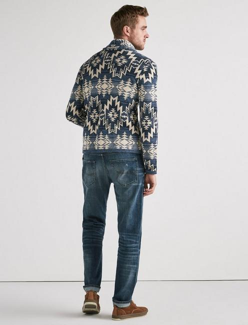 OMBRE SHAWL CARDIGAN, BLUE MULTI