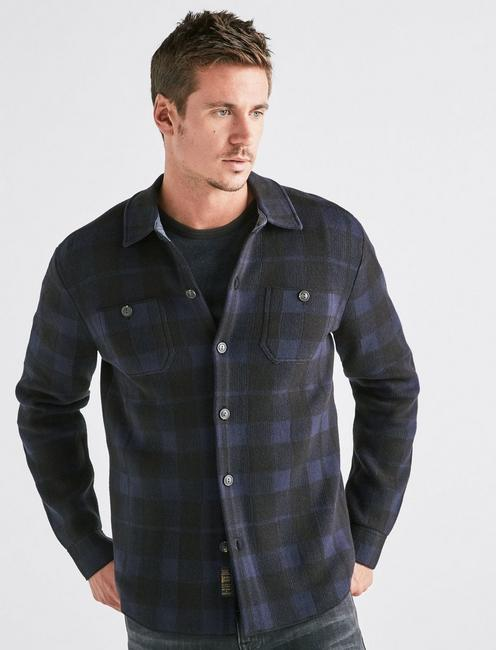 PLAID SWEATER SHIRT,