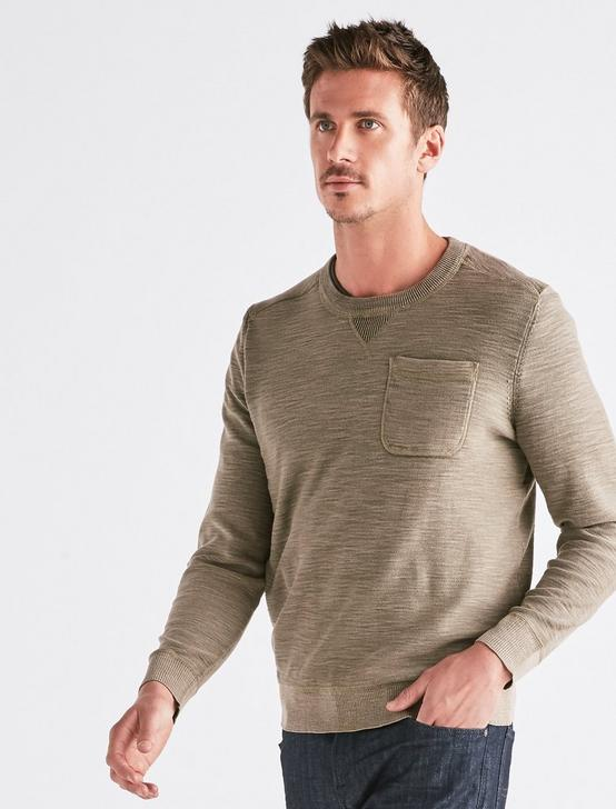 WELTER WEIGHT WASHED POCKET CREW, IVY GREEN, productTileDesktop