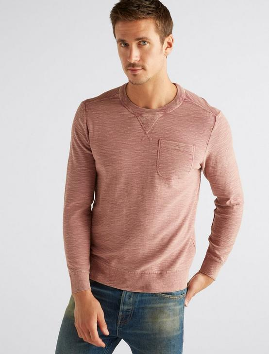 WELTER WEIGHT WASHED POCKET CREW, DUSTY ROSE, productTileDesktop