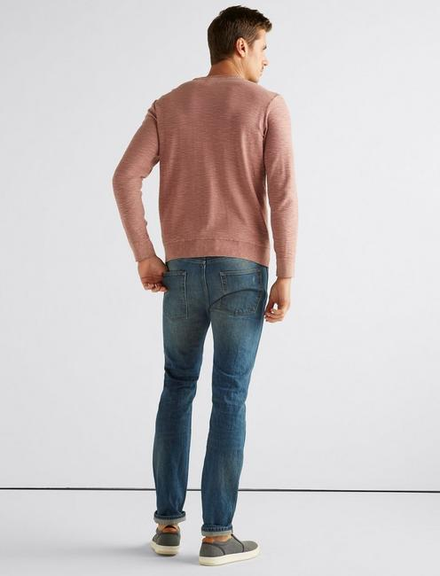 WELTER WEIGHT WASHED POCKET CREW, DUSTY ROSE