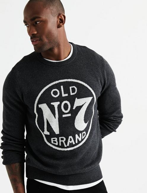 OLD No 7 SWEATER, HEATHER CHARCOAL