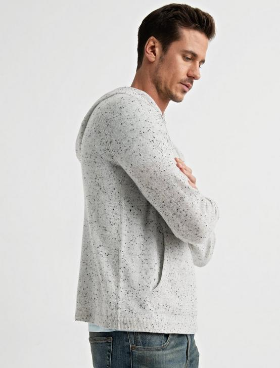 CASHMERE HOODIE, HEATHER GREY, productTileDesktop