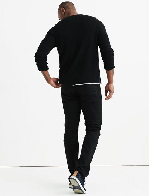 REFINED THERMAL HENLEY, BLACK/NAVY