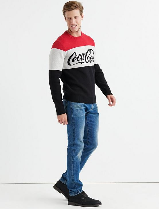 COCA COLA SWEATER, RED MULTI, productTileDesktop