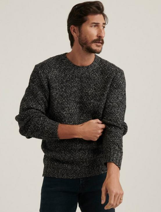 CROSS MARL STITCH PULLOVER SWEATER, BLACK MULTI, productTileDesktop