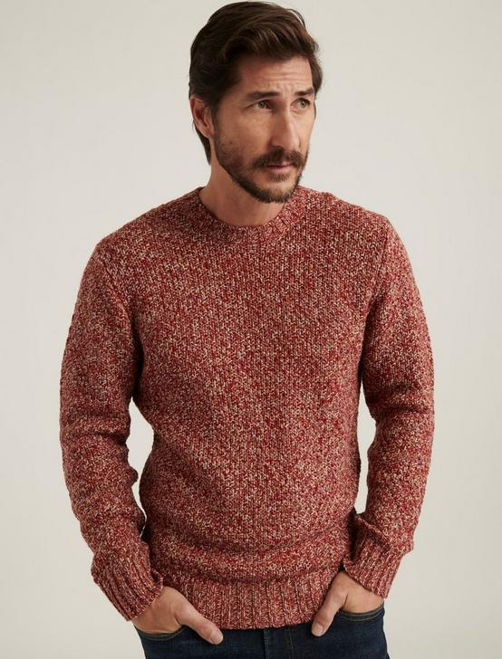 CROSS MARL STITCH PULLOVER SWEATER, RED MULTI, productTileDesktop