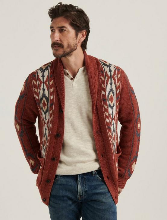 WASHED SOUTHWESTERN SHAWL CARDIGAN, MULTI, productTileDesktop