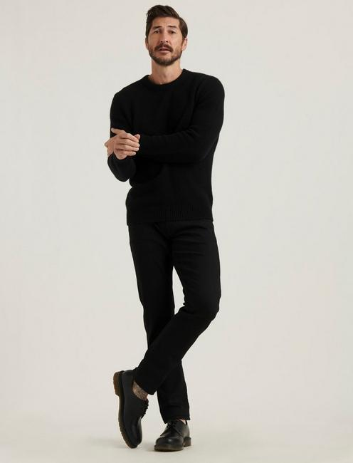 BRUSHED CASHMERE SWEATER, #001 BLACK