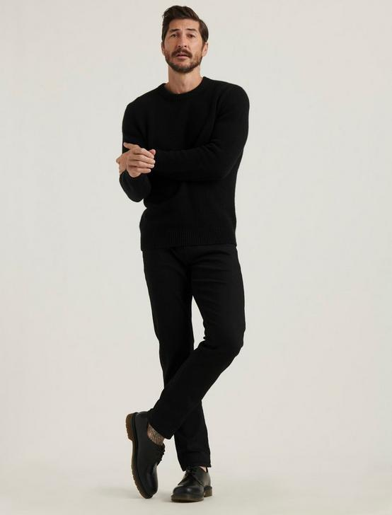 BRUSHED CASHMERE SWEATER, #001 BLACK, productTileDesktop