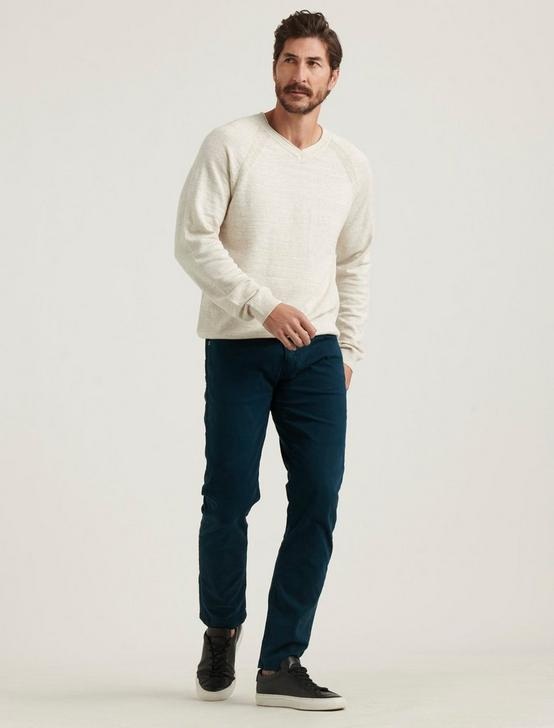 WELTERWEIGHT V-NECK SWEATER, HEATHER OAT, productTileDesktop