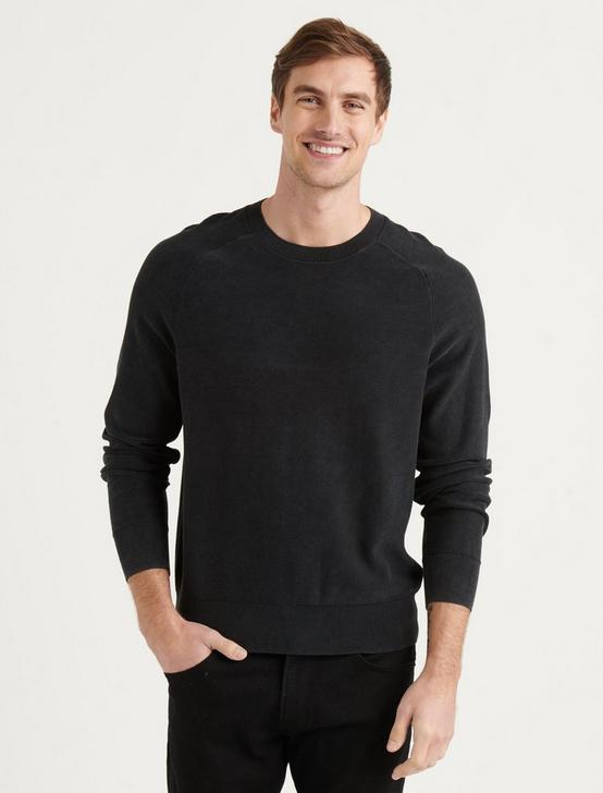 WELTERWEIGHT CREW NECK SWEATER, BLACK ONYX, productTileDesktop