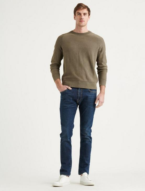 WELTERWEIGHT CREW NECK SWEATER, OLIVE, productTileDesktop