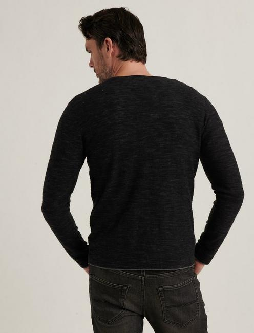 WELTERWEIGHT V-NECK, HEATHER BLACK