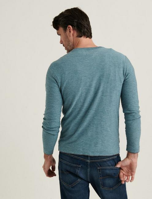 WELTERWEIGHT V-NECK, HEATHER INDIAN TEAL