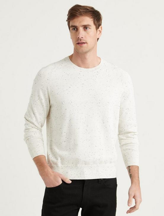 WELTERWEIGHT CREW NECK SWEATER, WHITE, productTileDesktop
