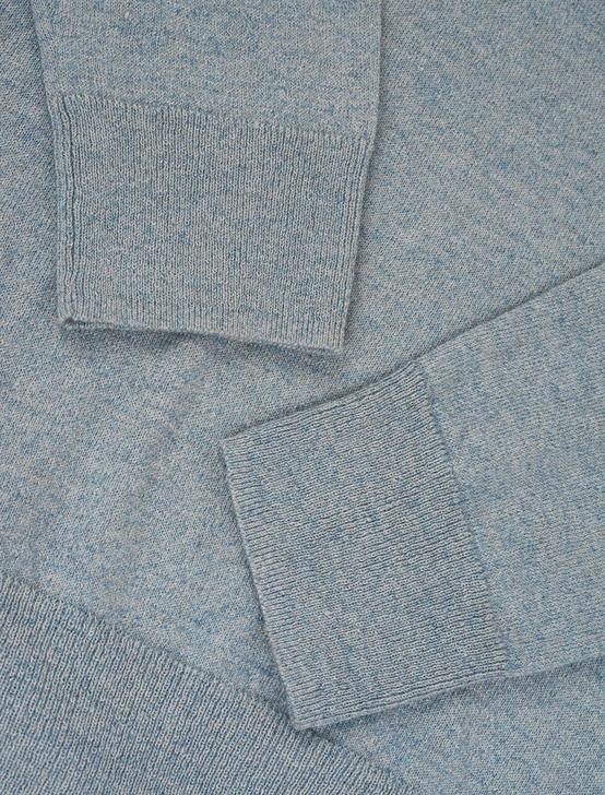 LINEN WELTERWEIGHT CREW, HEATHER BLUE, productTileDesktop