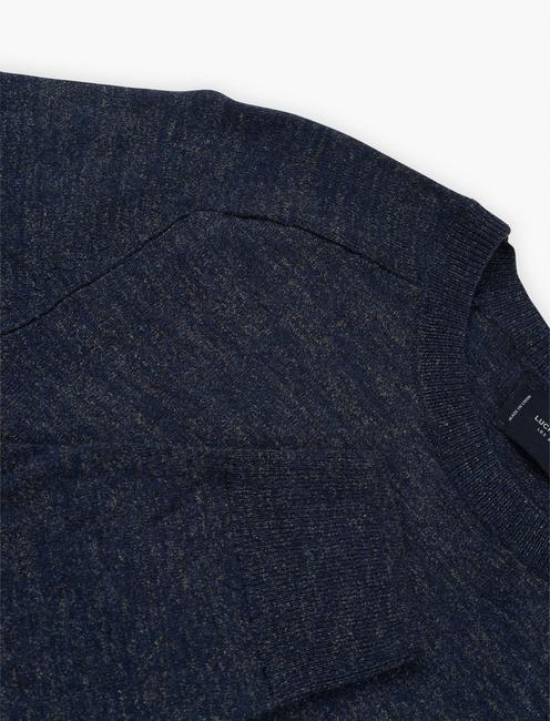 LINEN WELTERWEIGHT CREW, HEATHER NAVY