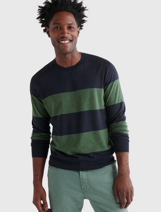 STRIPED WELTERWEIGHT CREW, MULTI STRIPE, productTileDesktop