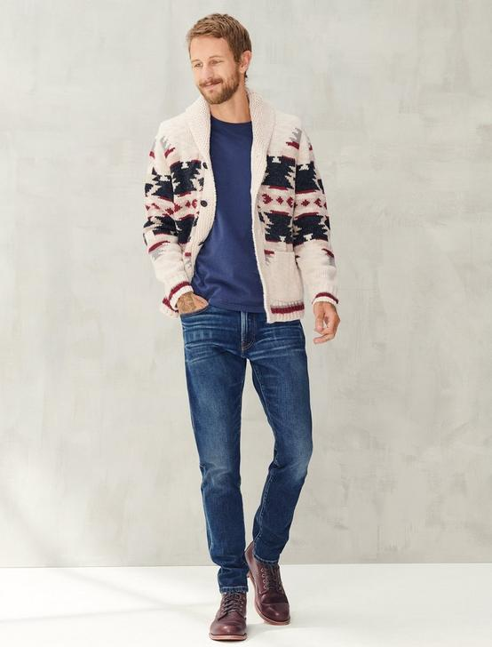 SHERPA-LINED LEGACY SHAWL COLLAR CARDIGAN, MULTI, productTileDesktop