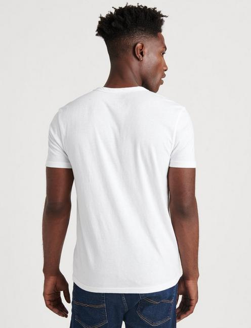 VENICE BURNOUT NOTCH TEE, BRIGHT WHITE