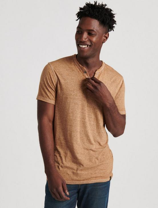 VENICE BURNOUT NOTCH TEE, LATTE, productTileDesktop