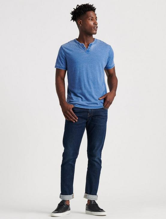 VENICE BURNOUT NOTCH TEE, MONACO BLUE, productTileDesktop