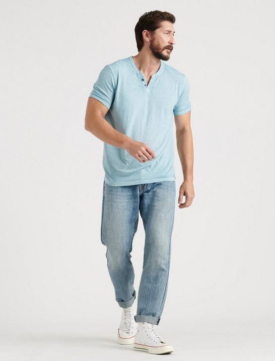 VENICE BURNOUT NOTCH TEE, CAMEO BLUE, productTileDesktop