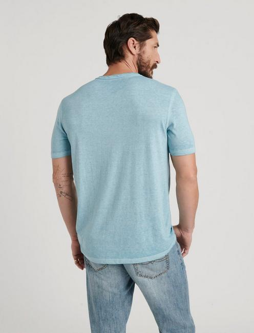 VENICE BURNOUT NOTCH TEE, CAMEO BLUE