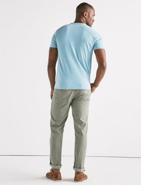 VENICE BURNOUT NOTCH TEE, DELPHINIUM BLUE