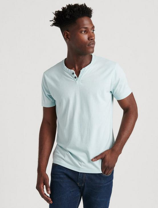VENICE BURNOUT NOTCH TEE, SPRING BLUE #4982, productTileDesktop