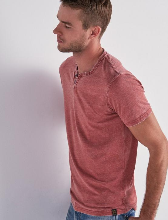 VENICE BURNOUT NOTCH TEE, COWHIDE, productTileDesktop