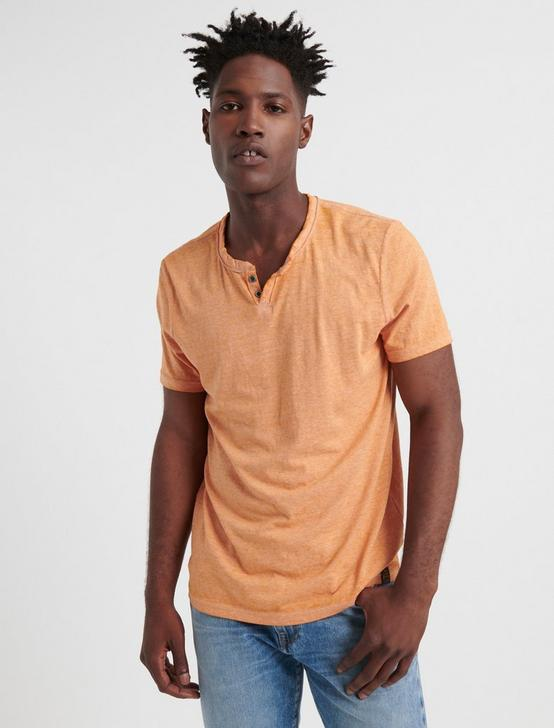 VENICE BURNOUT NOTCH TEE, JAFFA ORANGE, productTileDesktop