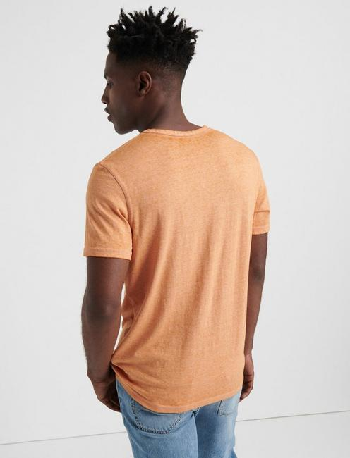 VENICE BURNOUT NOTCH TEE, JAFFA ORANGE