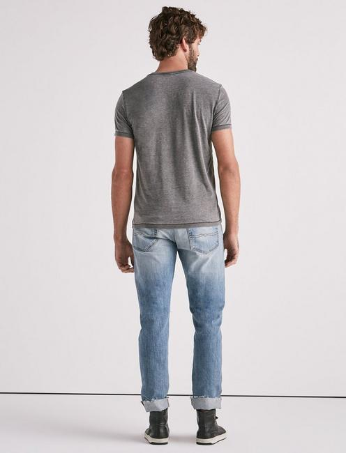 VENICE BURNOUT V-NECK TEE, BLACK MOUNTAIN