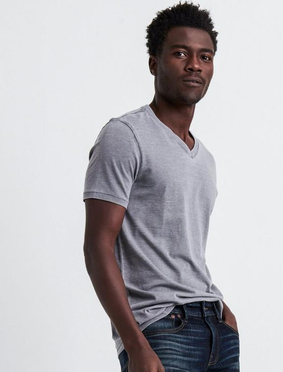 VENICE BURNOUT V-NECK TEE, FROST GRAY, productTileDesktop