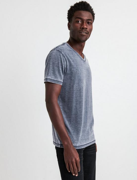 VENICE BURNOUT V-NECK TEE, AMERICAN NAVY, productTileDesktop
