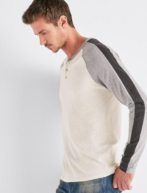 SATURDAY STRETCH COLORBLOCK HENLEY,