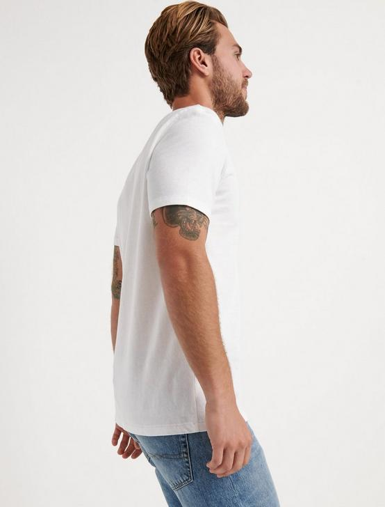 VENICE BURNOUT V-NECK TEE, BRIGHT WHITE, productTileDesktop